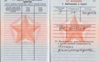 Категория учета в военном билете — разница между группами запаса