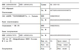 Платежка ндфл в 2020 году: образец, заполнения и инструкция