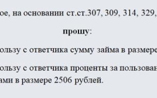 Исковое заявление о взыскании долга по расписке — образец 2020 года