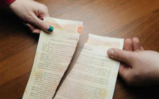 Расторжение брачного договора — условия расторжения