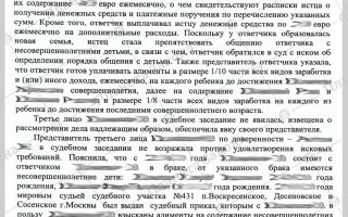 Заявления о выдаче судебного приказа о взыскании алиментов