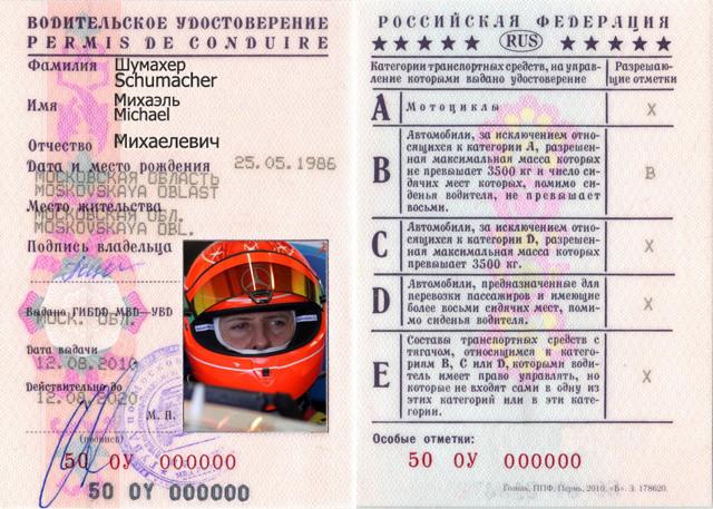 Номер водительского удостоверения - методы получения данных