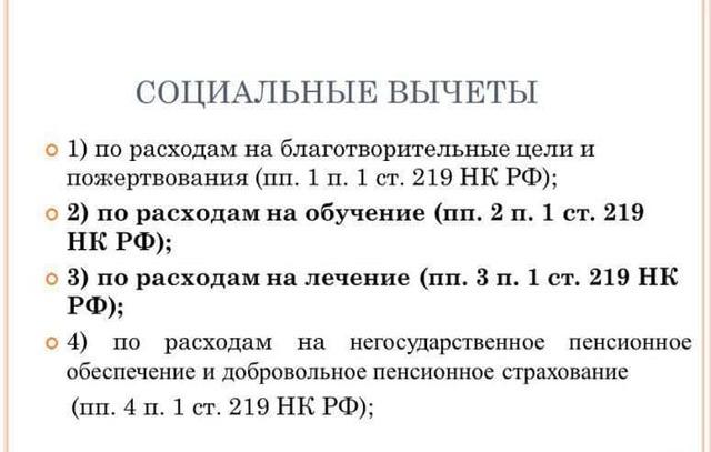 Статья 219 НК РФ -