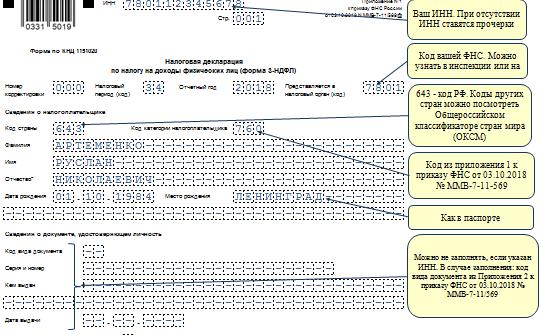 Инструкция по заполнению 3-НДФЛ в 2020 году с примерами