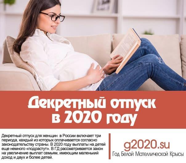 Декретный отпуск в 2020 году: расчет, порядок оплаты, заявление, законы