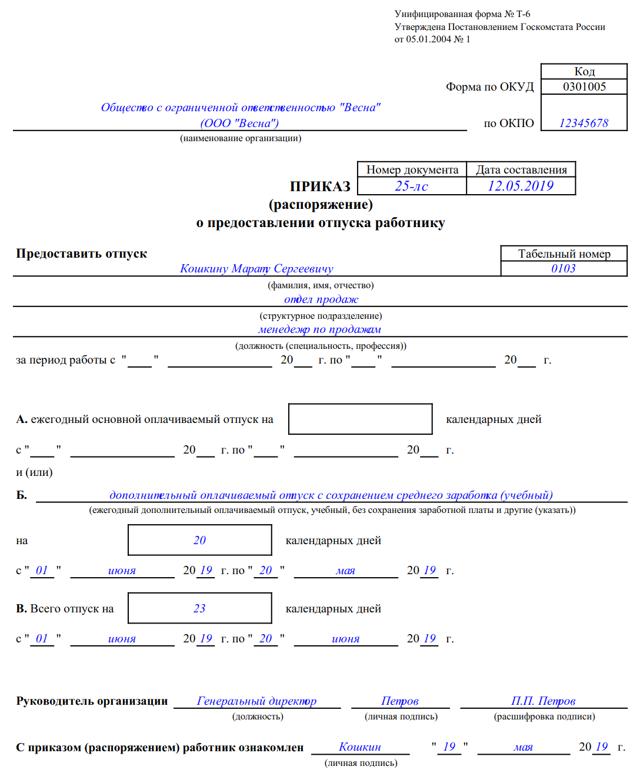 Учебный отпуск по ТК РФ: оплата и наюнсы