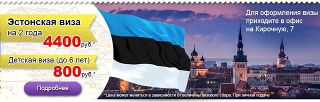 Виза в Эстонию для россиян: сколько стоит и как её оформить