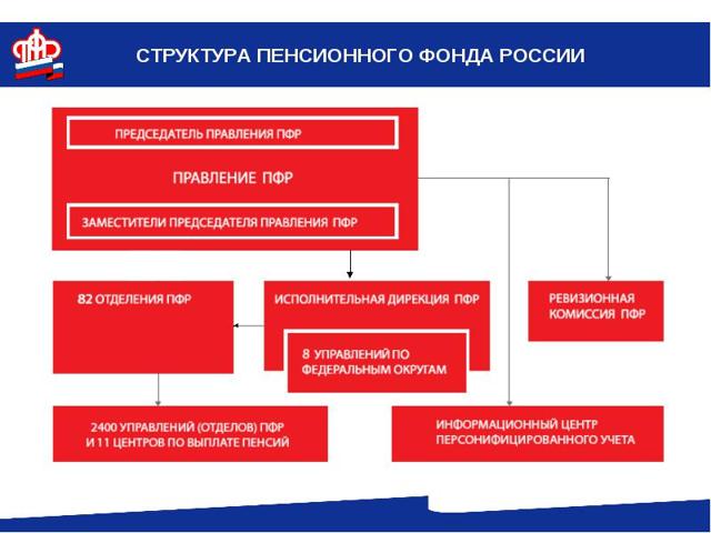 Структура Пенсионного фонда РФ и ее особенности