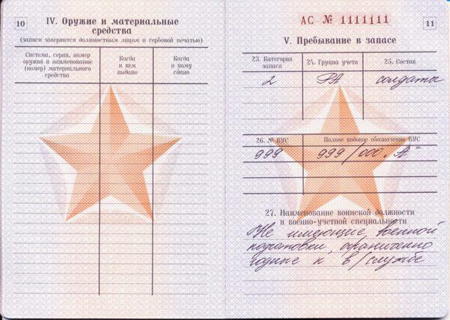 ВУС в военном билете: что такое и как расшифровывается