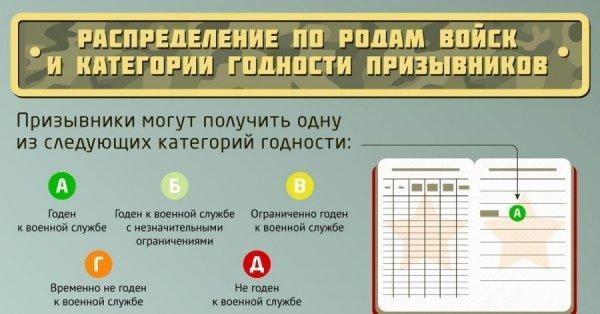Категория годности в военном билете и их значение