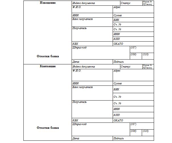 Квитанция на оплату госпошлины: образцы, бланки и нюансы заполнения